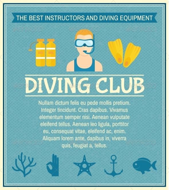 GraphicRiver Diving Club Poster 8070623