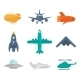 Aircraft Icons Flat - GraphicRiver Item for Sale