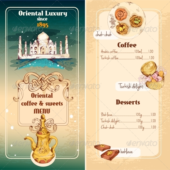 GraphicRiver Oriental Sweets Menu 8070645