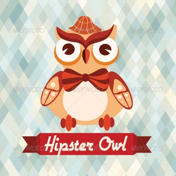 GraphicRiver Hipster Owl Poster 8070662