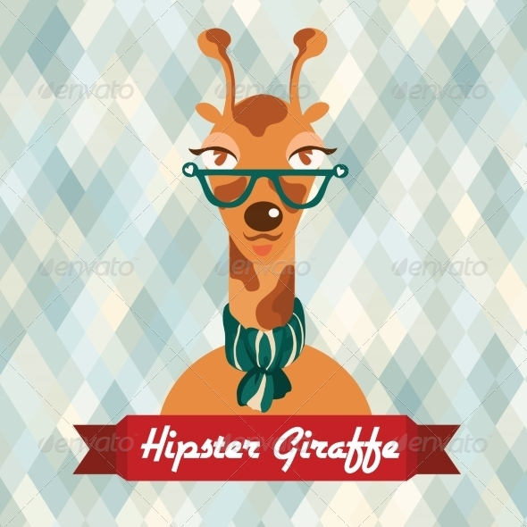 GraphicRiver Hipster Giraffe Poster 8070664