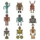 Hipster Robot Set - GraphicRiver Item for Sale