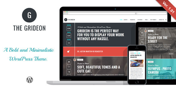 Grideon - Responsive Creative WordPress Theme - Personal Blog / Magazine