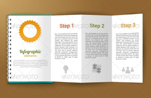 GraphicRiver Notepad Unfolded Infographic 8070682
