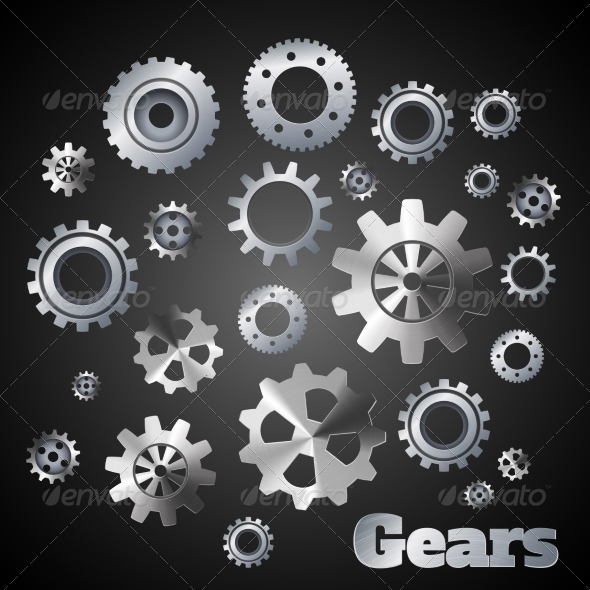 GraphicRiver Metal Gears Poster 8070687