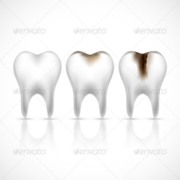 GraphicRiver Teeth Realistic Set 8070691