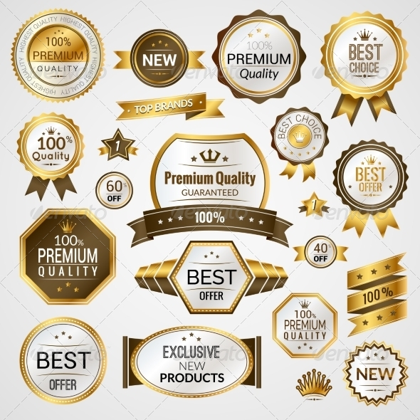 GraphicRiver Luxury Labels Set 8070694
