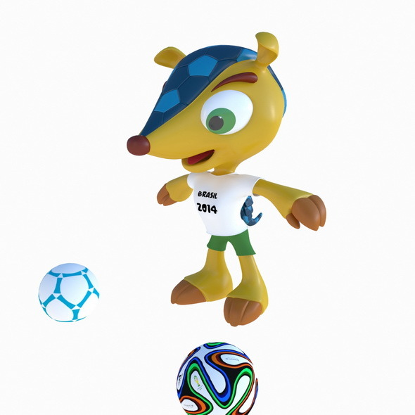 Fuleco the Armadillo Brasil - 3DOcean Item for Sale