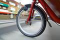 Spinning bicycle wheel - PhotoDune Item for Sale