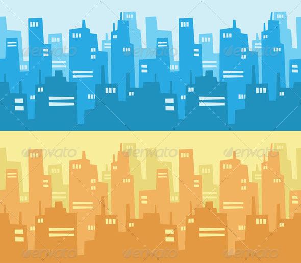 GraphicRiver City Skyscraper Silhouette Background 8070865