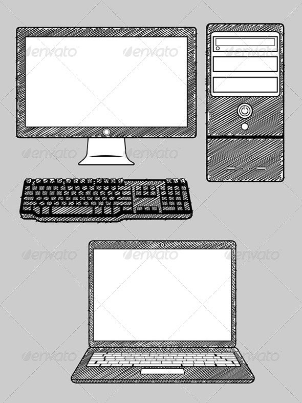 GraphicRiver Computer and Laptop 8070880