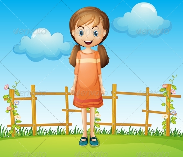GraphicRiver Girl near the Fence 8070884