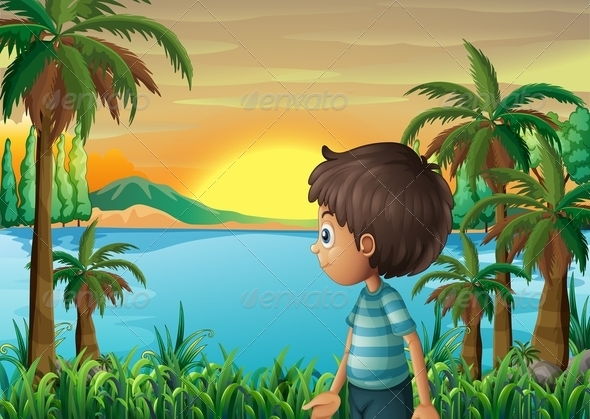 GraphicRiver Boy at the River 8070930