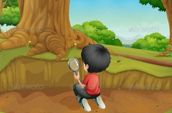 GraphicRiver Boy Looking for Clues 8070970