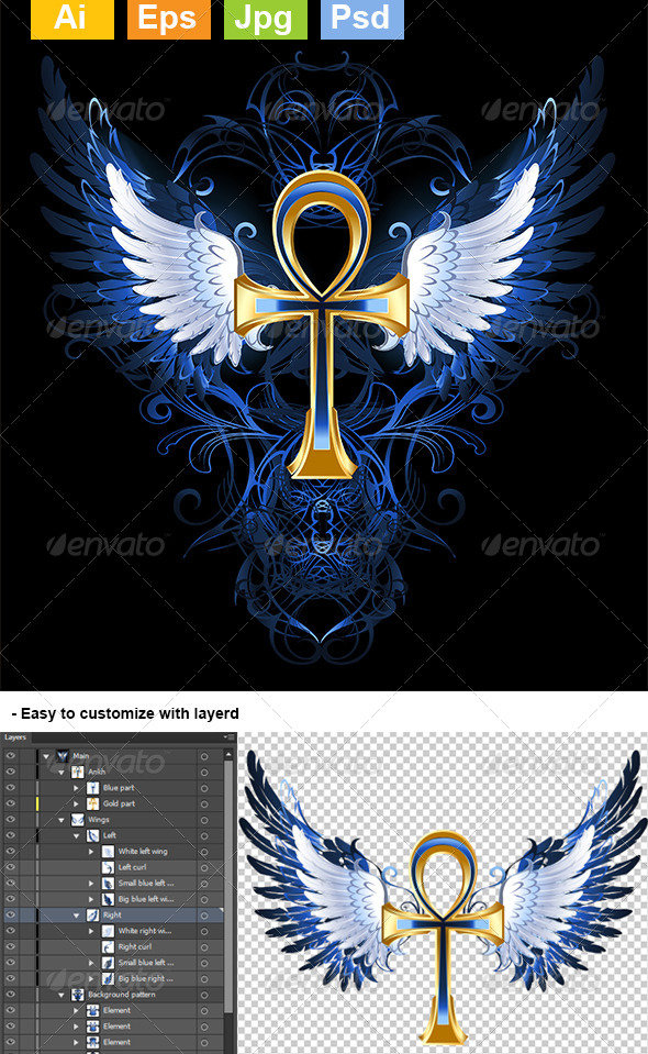 GraphicRiver Gold Ankh 8071081