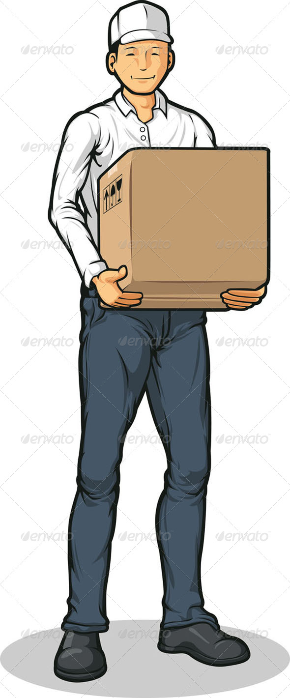 GraphicRiver Delivery Man with Box 8071109