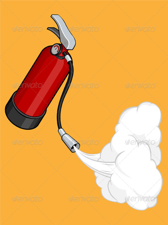 GraphicRiver Fire Extinguisher Releasing Gas 8071124