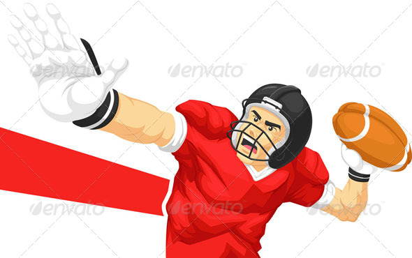 GraphicRiver Quarterback Throwing Ball 8071127