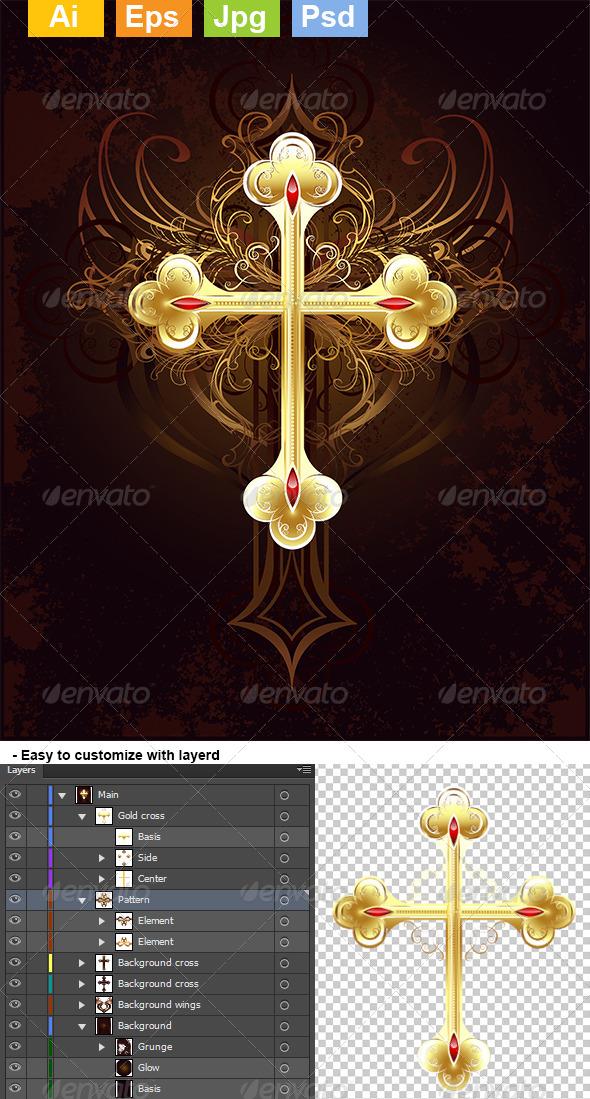 GraphicRiver Golden Cross 8071131
