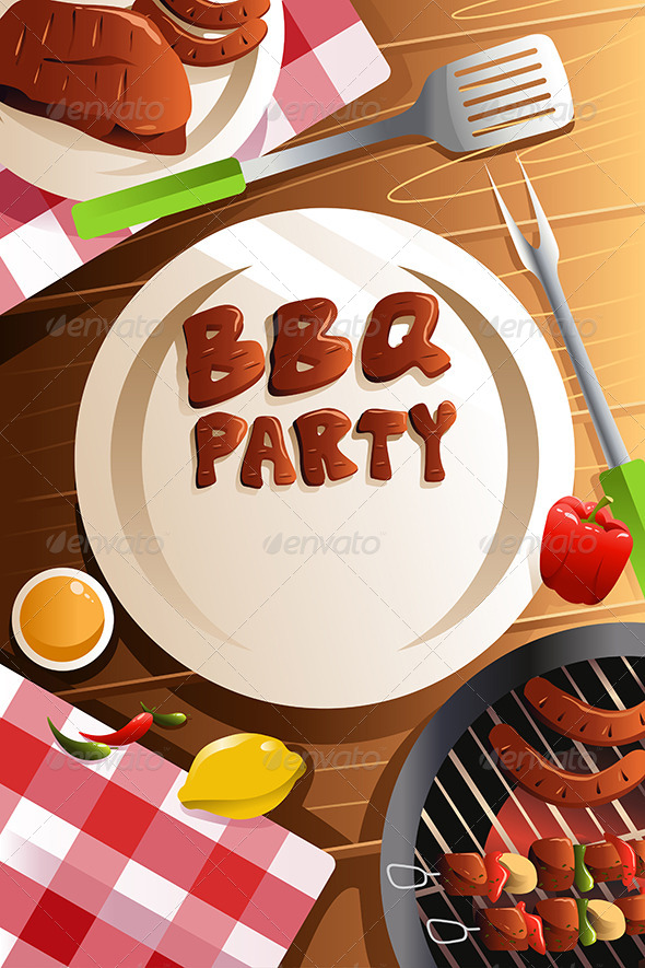 GraphicRiver Barbeque Party Poster 8071144
