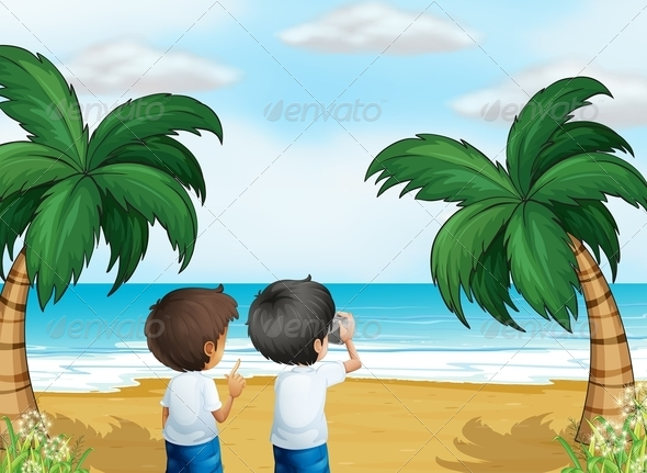 GraphicRiver Two Photographers at the Beach 8071171