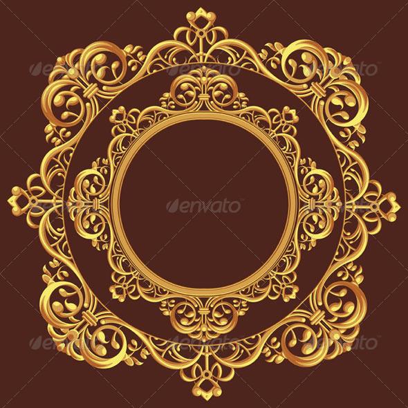 GraphicRiver Golden Circle Ornament 8071180