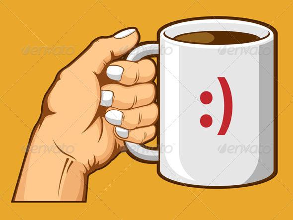 GraphicRiver Hand Holding Coffee Mug 8071195