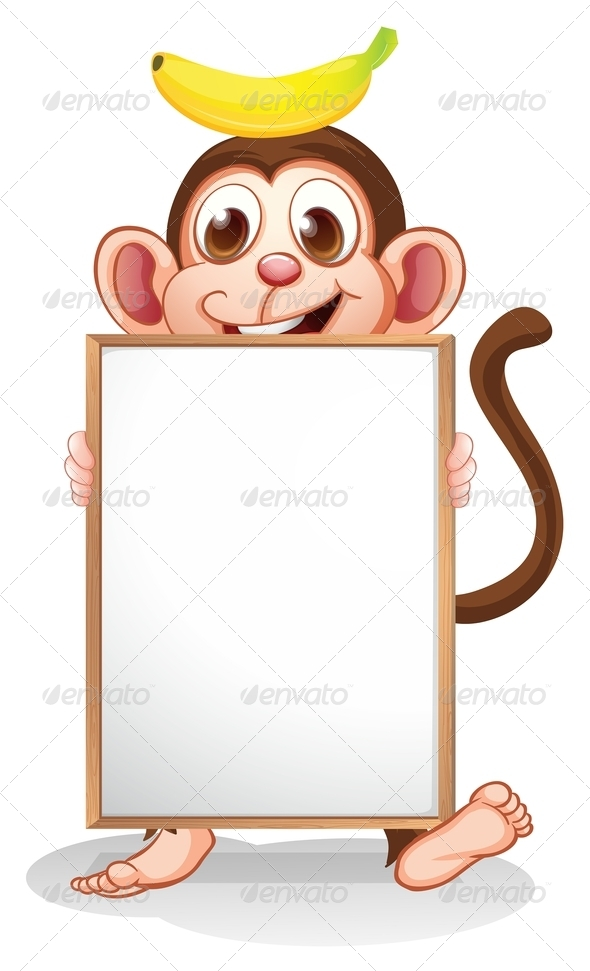 GraphicRiver A Monkey with a Banana Above his Head 8071215