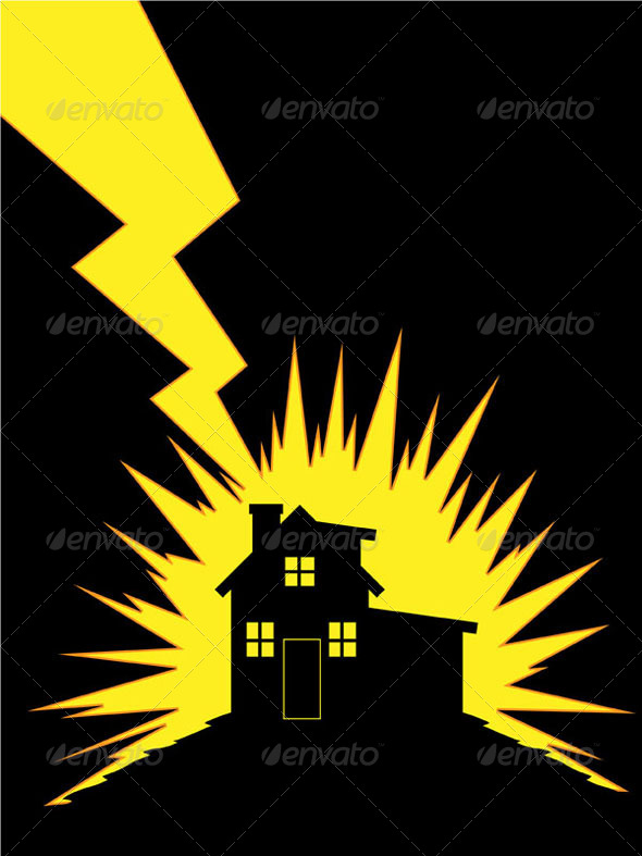 GraphicRiver House Struck by Lightning 8071227