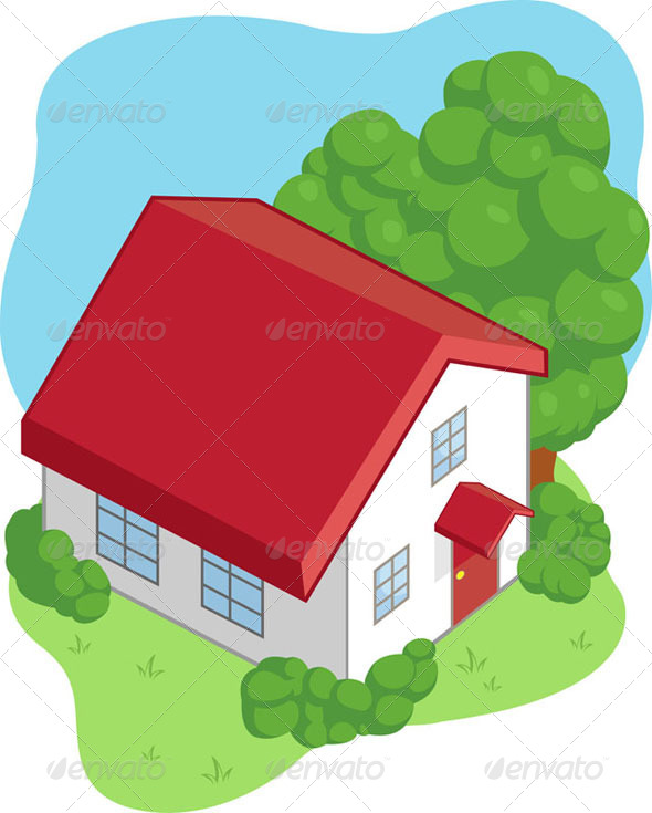 GraphicRiver Isometric Cartoon House 8071234