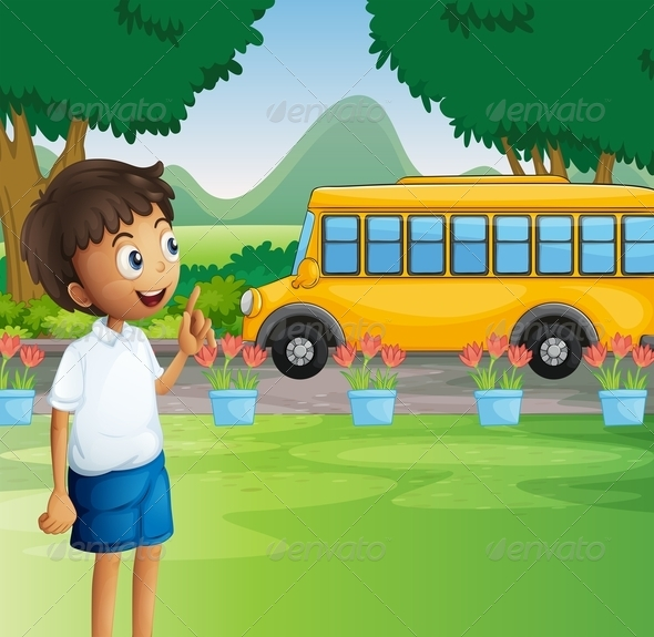 GraphicRiver A Young Boy Ready for School 8071235