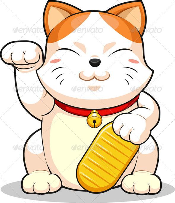 GraphicRiver Lucky Cat Makeni Neko 8071383