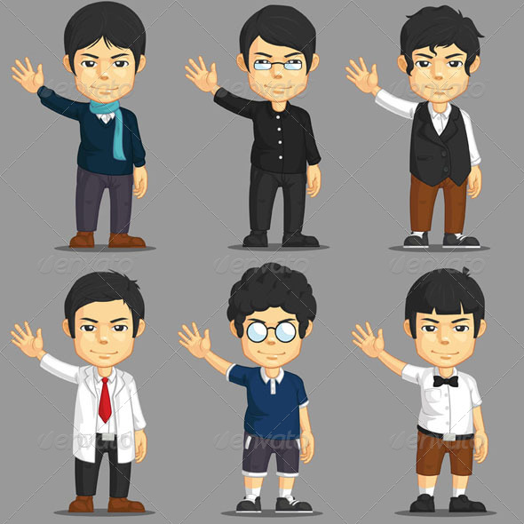 GraphicRiver Cartoon Character Set 8071392