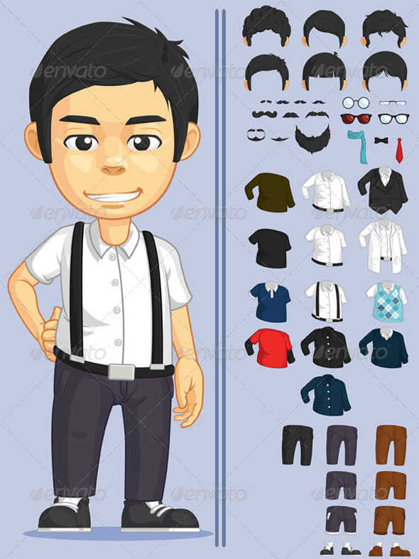 GraphicRiver Customizable Character 8071393