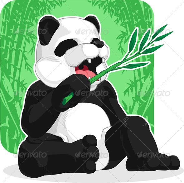 GraphicRiver Panda Eating Bamboo 8071412