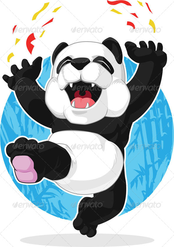 GraphicRiver Panda Jumping in Excitement 8071413