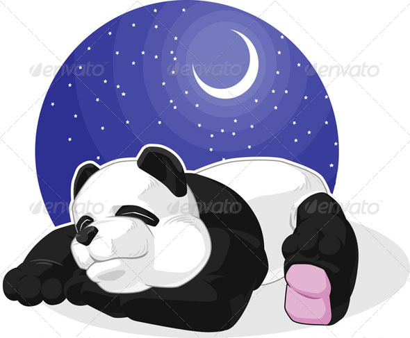 GraphicRiver Panda Sleeping 8071415