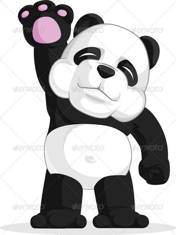 GraphicRiver Panda Waving His Hand 8071416