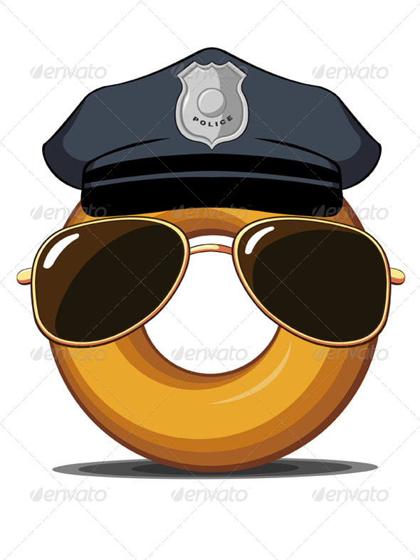 GraphicRiver Police Donut 8071456