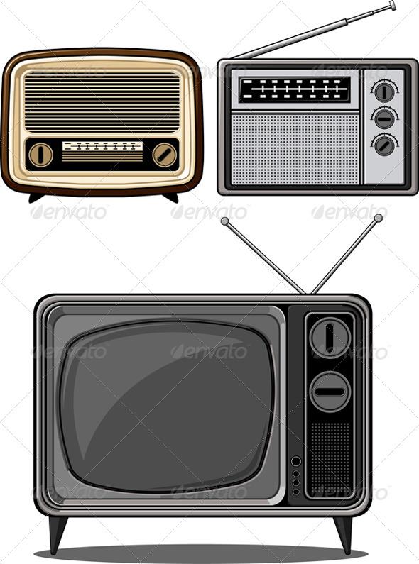 GraphicRiver Retro Television and Radio 8071468