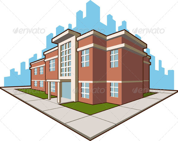 GraphicRiver School Building 8071472