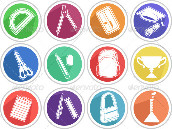 GraphicRiver School Icon Set 8071473
