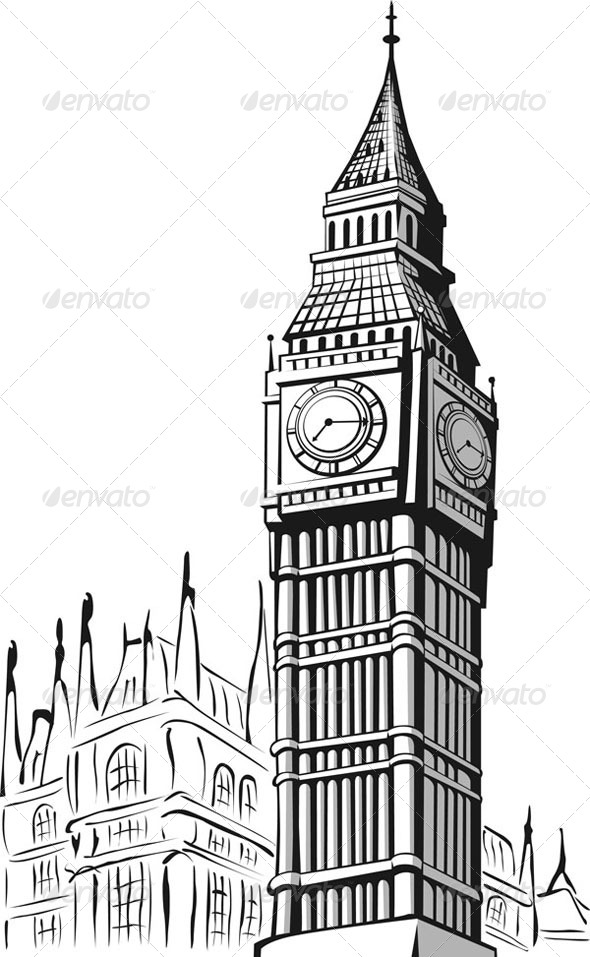 GraphicRiver Sketch of Big Ben London 8071528