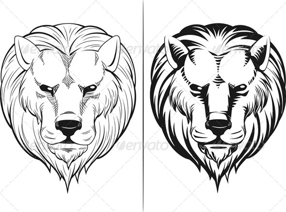 GraphicRiver Sketch of Lion Head 8071539