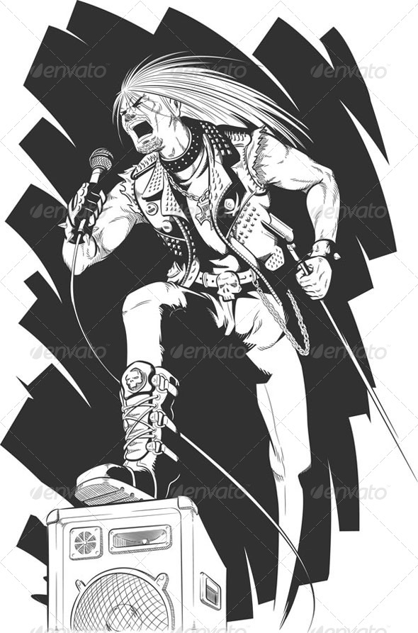 GraphicRiver Sketch of Rocker 8071544