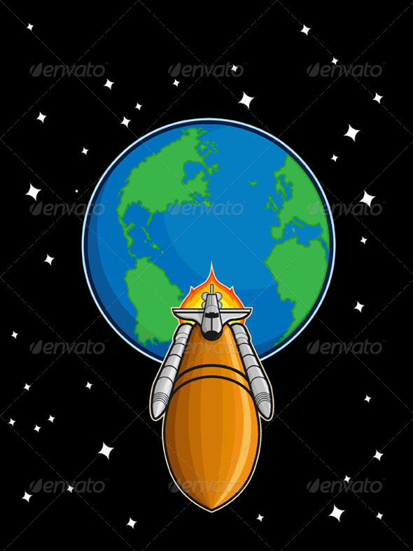 GraphicRiver Space Shuttle from Earth 8071555