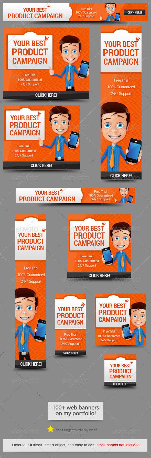 GraphicRiver Business App Web Banner Design 8071557