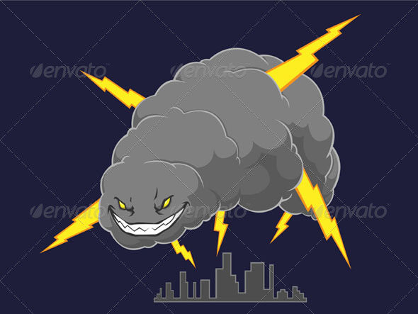 GraphicRiver Storm Cloud Attacking A City 8071560