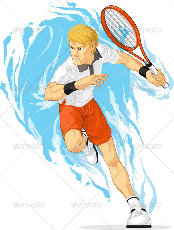 GraphicRiver Tennis Player with Racket 8071563