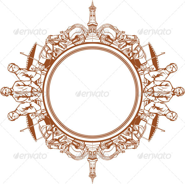 GraphicRiver Traditional Illustration Circle Frame 8071565